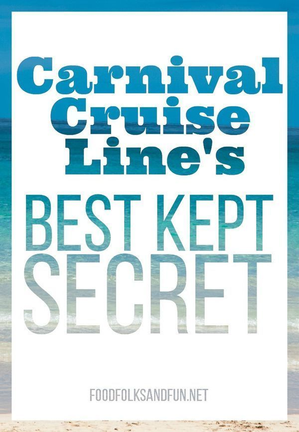 Carnival Cruise Line's Best Kept Secret – Here's a hint, foodies will LOVE it! #vacation #carnivalcruiselines