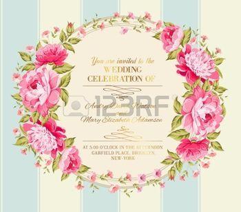 Félelmetes vintage címke színe virágok. Vektoros illusztráció. photo