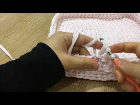 Yeni model 7 kare sepet yapımı ( New model cotton rope basket ) - YouTube