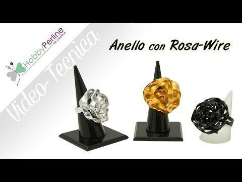 ANELLO con ROSA WIRE | TECNICA - HobbyPerline.com