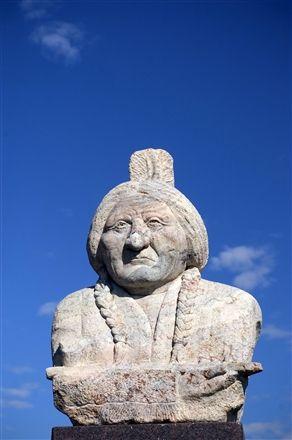 Sitting Bull Monument in Mobridge, South Dakota.