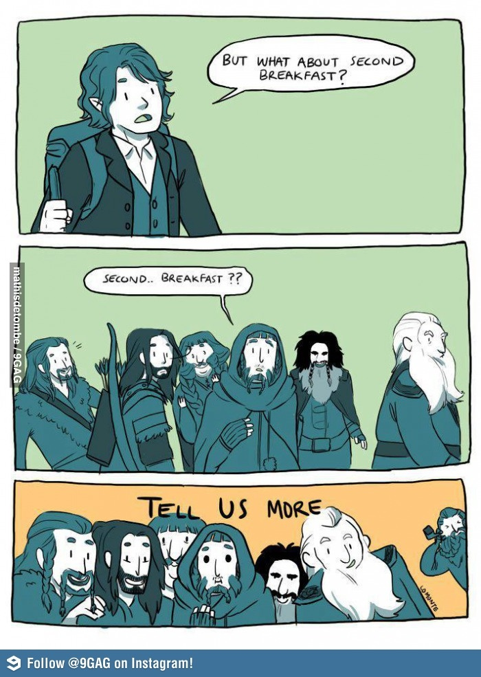 In which Hobbits and Dwarves get along famously.