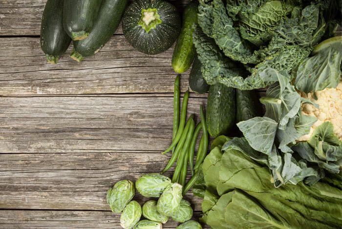 зеленые овощи - продукты усиливающие метаболизм