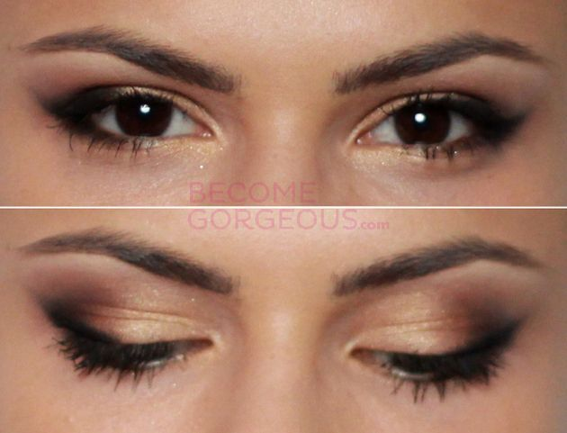 Selena Gomez Cat Eye Makeup Tutorial - Learn how to copy Selena Gomez's signature cat eye makeup look in a few easy steps!