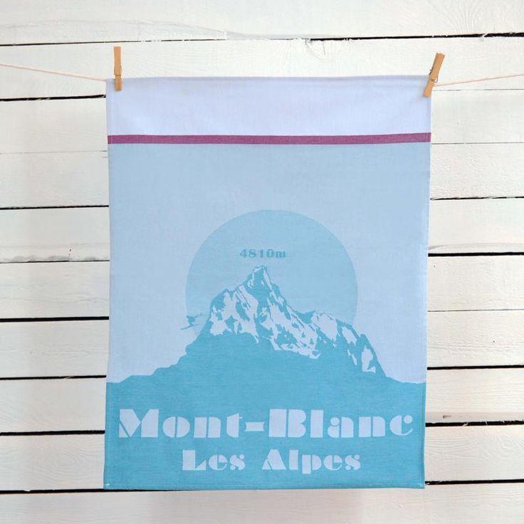 Mont blanc série montagne tissage moutet linge de maison français www