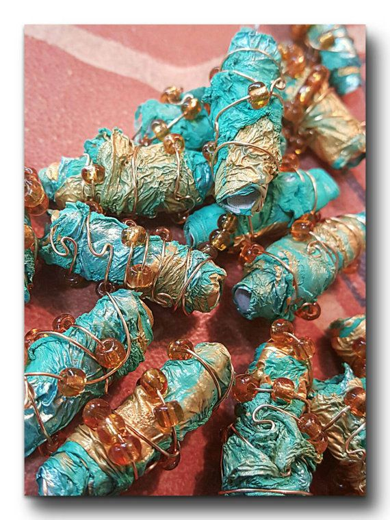 Up-cycled Recycled Beads, Fantasy Bling, Tyvek beads, Out Of Time Designs Originals