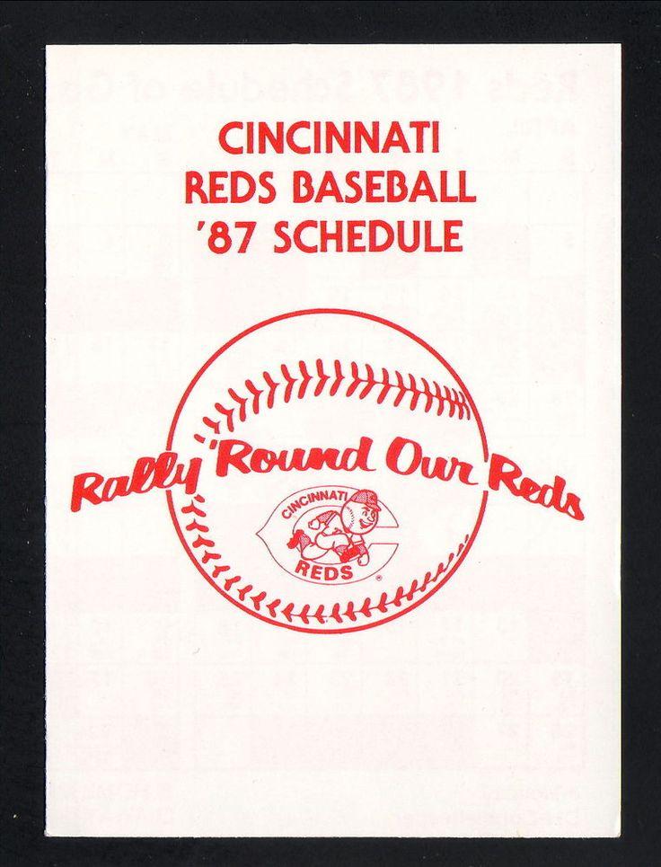 1987 Cincinnati Reds Schedule--Omni Netherland Plaza #Pocket
