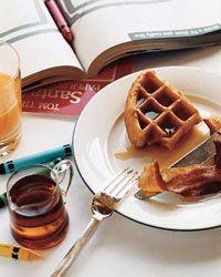 Cornmeal-and-Ricotta Waffles Recipe from Food & Wine