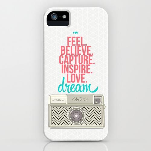 Camera Dream Feel Inspire Love  iPhone Case