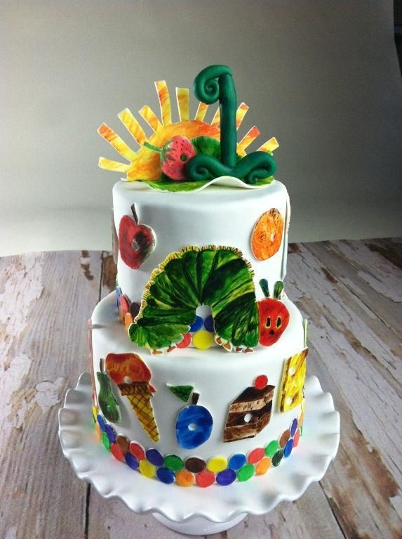 - Hungry Caterpillar Birthday Cake - How adorable!  I love everything Eric Carle!