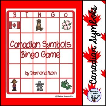 Canadian Symbols Bingo GameThis is a set of 6 different bingo cards featuring symbols of Canadian importance. There is also a blank card included in case you would like to create additional cards. It is not editable, but you can print out one of the cards and cut out the pieces to rearrange them for more options.The blank can also be used as a place to put the pieces as they are called out.