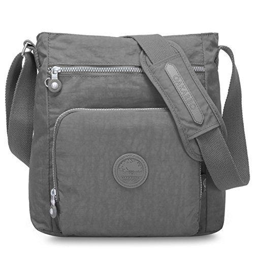 2a89ab24ca Nylon Crossbody Purse Multi-Pocket Travel Shoulder Bag