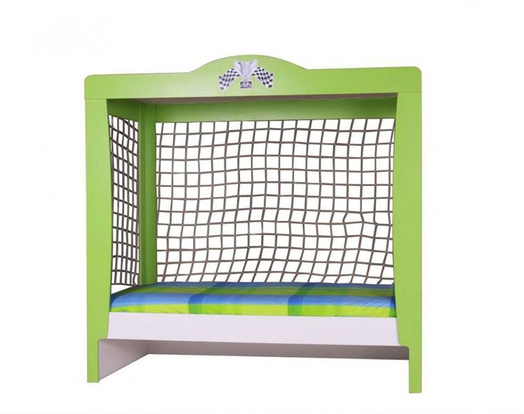 Perfect Cooles Fu ballbett gestaltet wie ein Tor Fu ballzimmer Kinderbett Fu ball