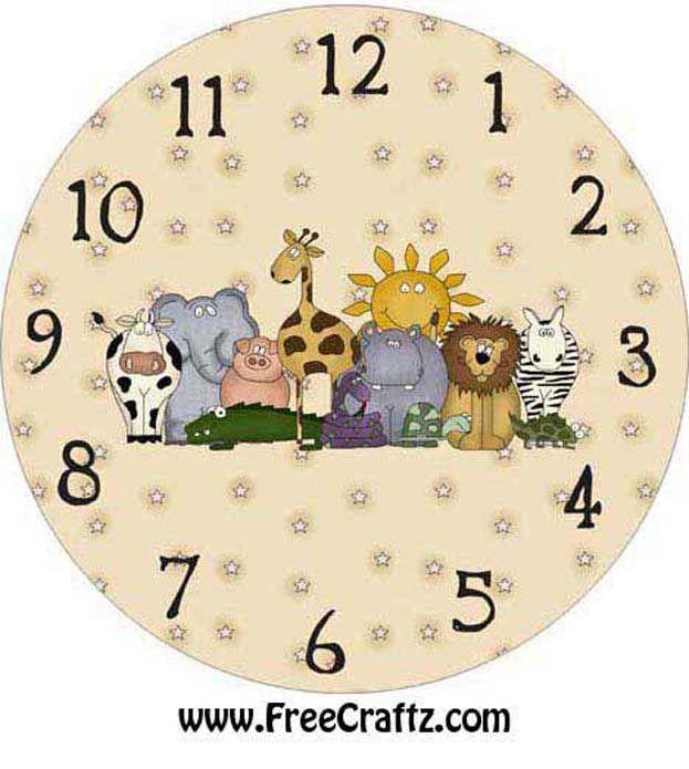 Zoo Clock Face