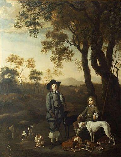 Jan (Johann) Le Ducq(Duck) (Haga 1629/1630-1676/1677 Amsterdam) Książęta de Vildt na polowaniu 1656 Olej, płótno, Muzeum Narodowe w Gdańsku