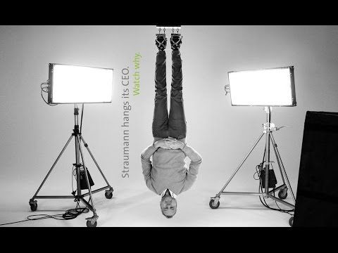 "What do you think of the new Straumann YouTube video commercial ""Become an #OriginalStraumann""? http://youtu.be/fHhaVijg5us. To demonstrate the performance and reliability of Straumann's dental implant system the company has launched a commercial, in which the CEO, Marco Gadola, is suspended upside down from just four Straumann dental implants. Dentaltown Implantology http://www.dentaltown.com/MessageBoard/thread.aspx?s=2&f=123&t=245019&r=0."