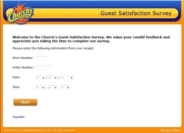 ChurchS Chicken Customer Satisfaction Survey Www