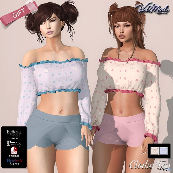 Elodie Top March 2018 Group Gift by [WellMade]
