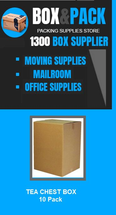 10 x Moving Boxes Removalist Packing Carton Box Tea Chest Box Removal Boxes  #BoxPack