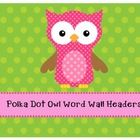 Owl word wall headers - perfect for my owl themed classroom!