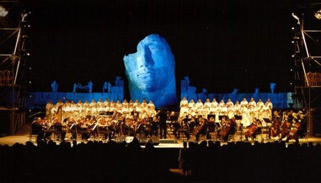 Teatro del silenzio in Lajatico during concert #teatrodelsilenzio #Bocelli