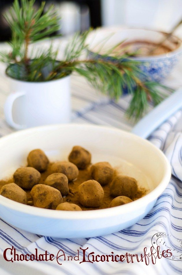 Louise´s Spis: Chocolate and Licorice Truffles (Choklad och Lakri...