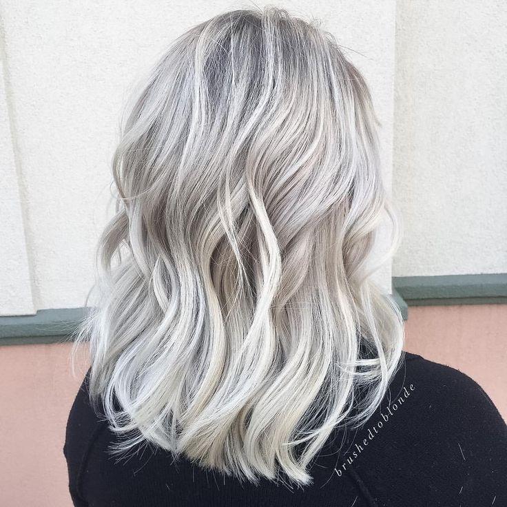 "Danielle Hess (@brushedtoblonde) on Instagram: ""Ice Ice Baby ❤#hairenvy #whiteblonde #healthyblonde"""