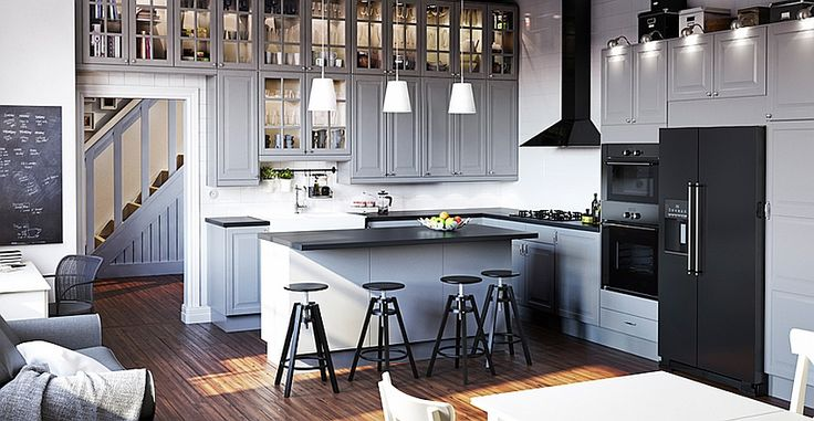 Elegant modern kitchen from the Ikea Catalog IKEA 2015 Online Catalog: Mostly Computer Generated Beauty!