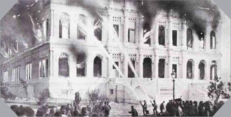 19  ocak 1910  Çirağan  sarayı  yangını...