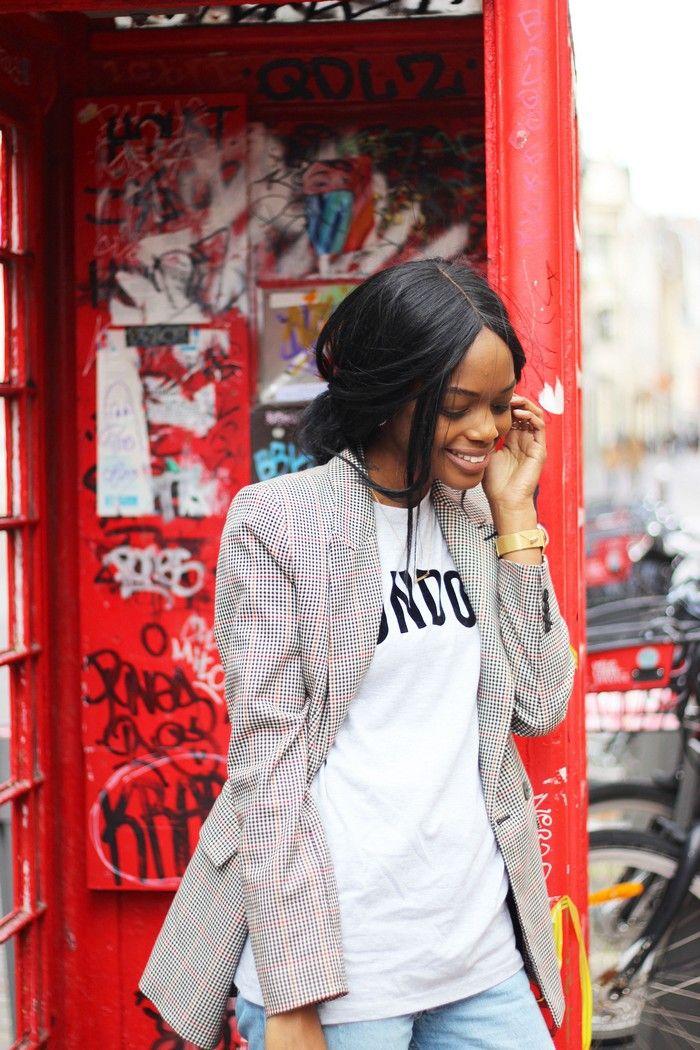 """Un look Masculin Féminin pour @Bisouskeshia1 avec ce T-shirt homme """"London"""" à 5€ !"""