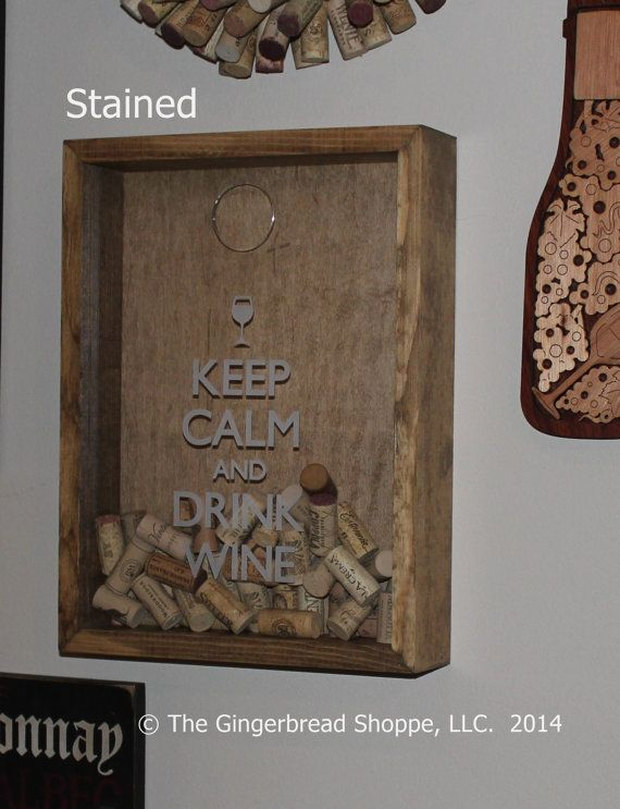 Keep Calm and Drink more WINE/Cork Holder/Decor/Bar Decor/Father's Day/Man Gift/Engraved/Wedding Gift