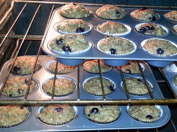 Nikki's Lemonberry Kiss: Lemon Blueberry Power Muffins