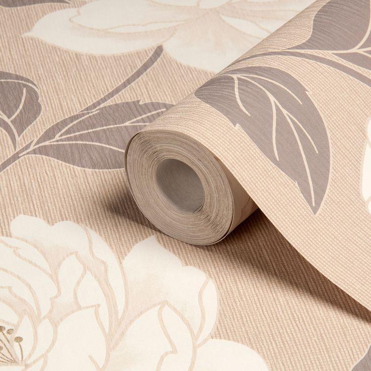 Ella Floral Stone Wallpaper | Departments | DIY at B&Q