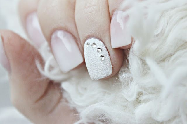 Frosted acrylic nails
