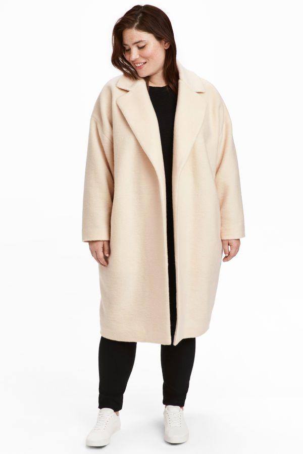 da26e423e49 H M+ Wool-blend Coat