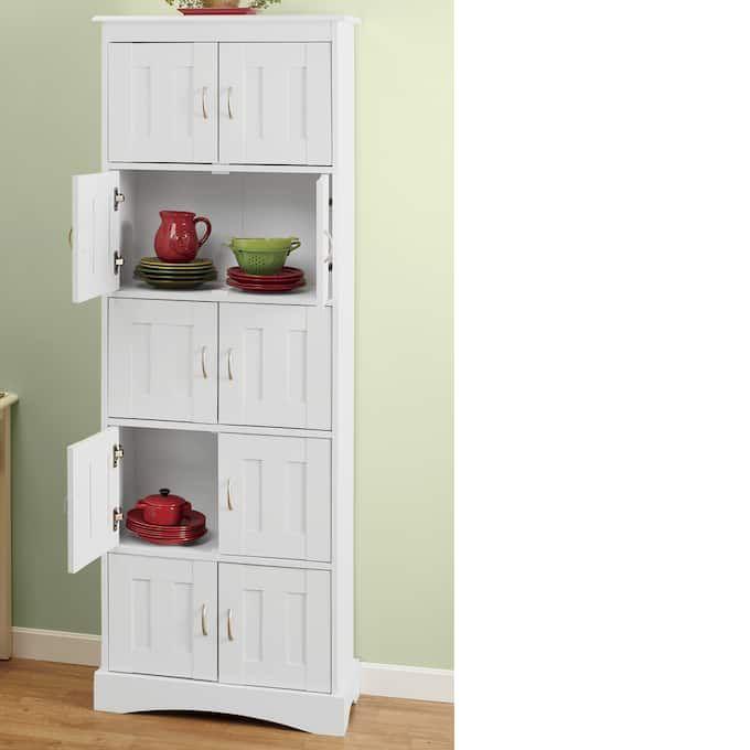 Kayla 10 Door Pantry Country Door Tall Cabinet Storage Storage Kitchen Storage