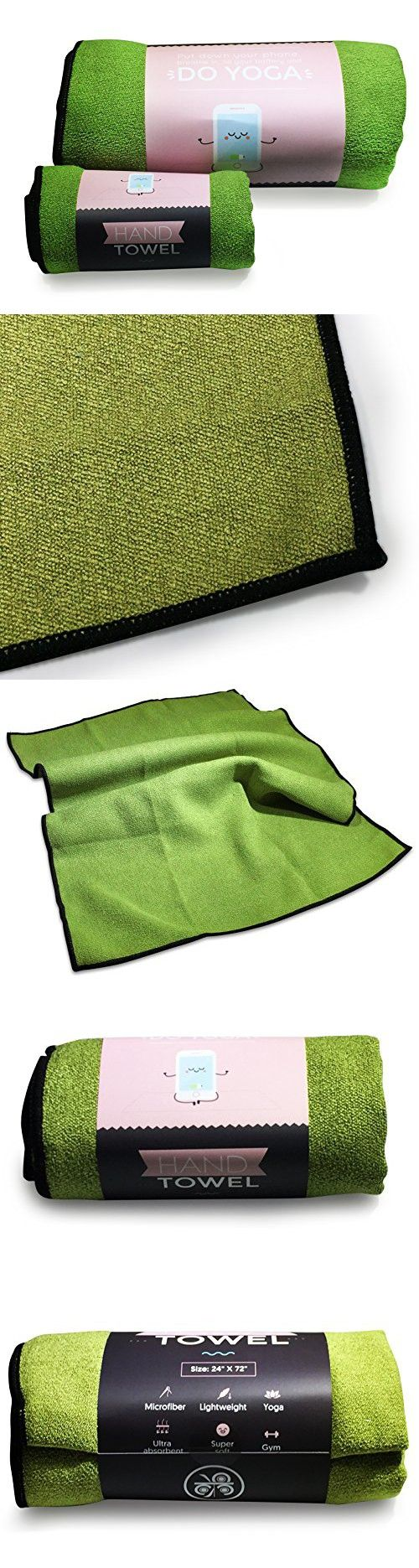 Olive Green MKRI Yoga & Hand Towel Set | Skidless & Ultra Absorbent Microfiber Towels