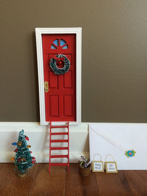 Elf Door/Tooth Fairy Door/Leprechaun Door by ColoringEggs on Etsy