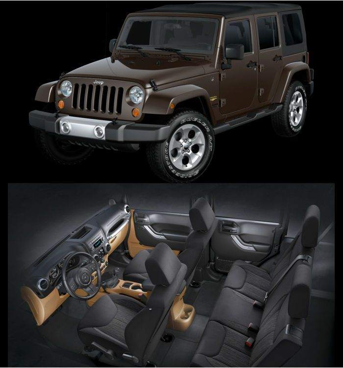 2013 Jeep Wrangler Unlimited Sahara Rugged Brown Pearl