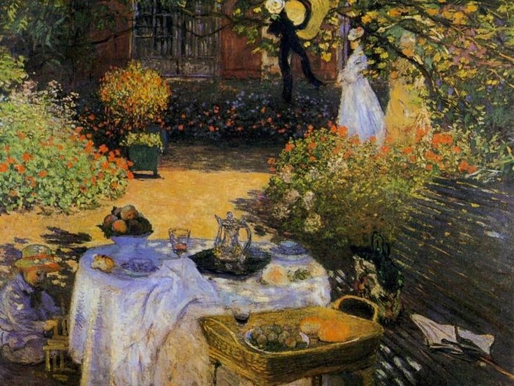 Colazione in giardino è un pannello decorativo, dipinto ad olio su tela di cm 160 x 201 realizzato nel 1873 circa dal pittore francese Claude Monet. È conservato al Museo d'Orsay di Parigi.
