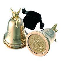 """Подарок """"На первый зуб"""" - серебряный колокольчик с монетой"""