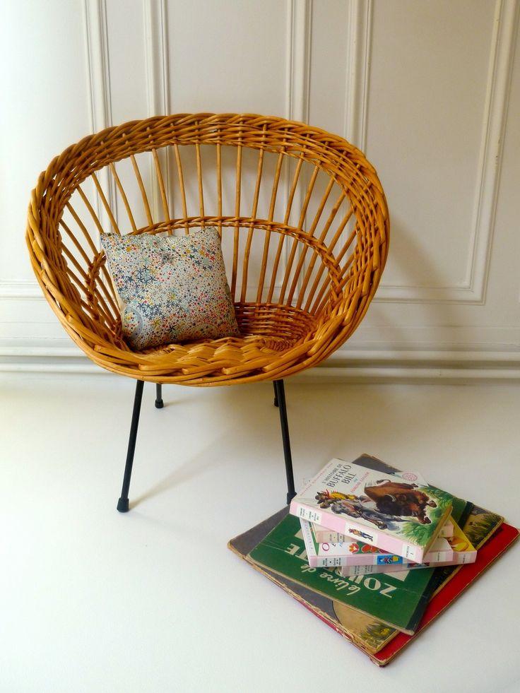 17 meilleures images propos de rotin osier sur pinterest for Table et chaise en osier