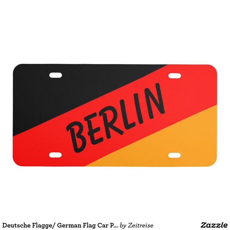 Deutsche Flagge/ German Flag Car Plate Berlin