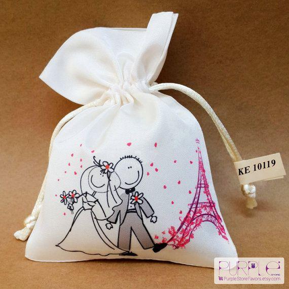Eiffel Tower Wedding Favor Bag Bride Groom by PurpleStoreFavors, $1.99
