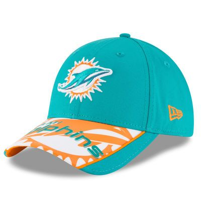 Miami Dolphins New Era Logo Scramble 9FORTY Adjustable Hat - Aqua