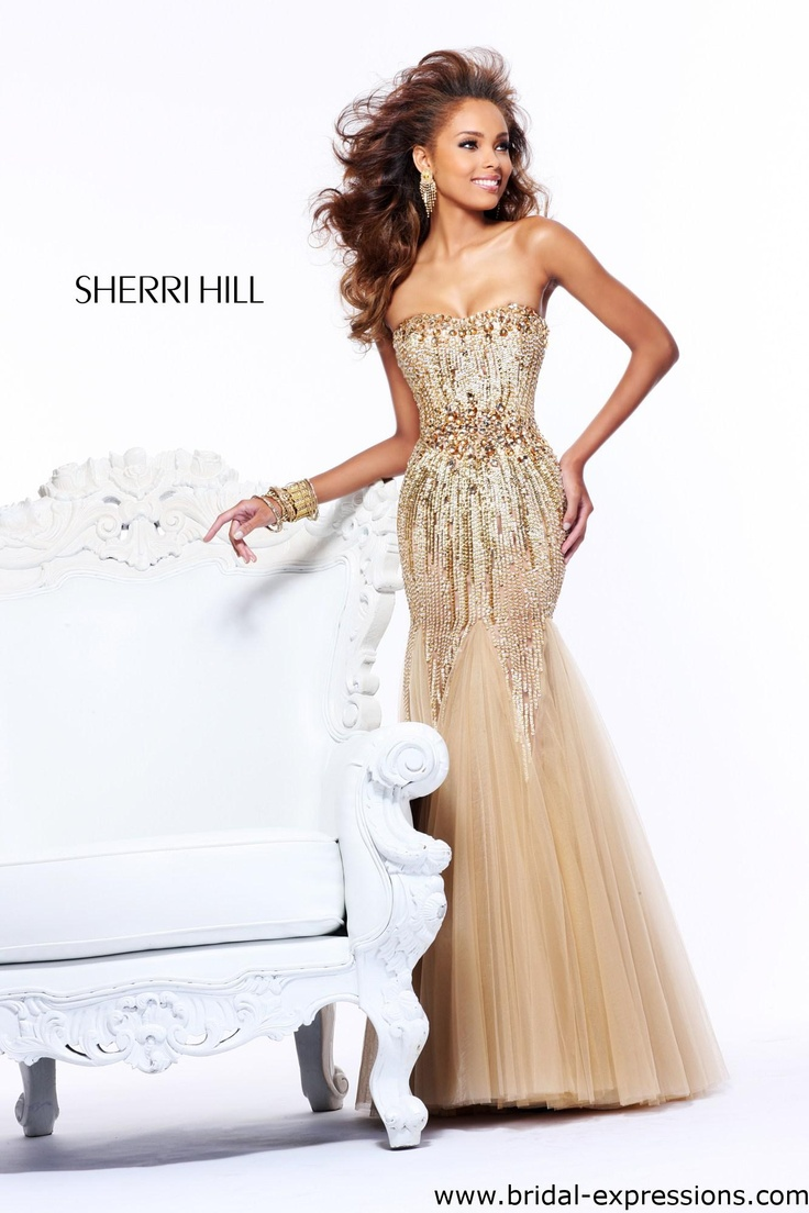 Sherri Hill 21066 Beaded Mermaid Prom Dress
