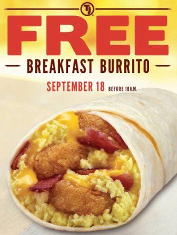 Taco John's: FREE Breakfast Burrito!