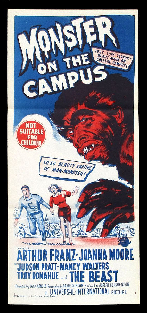 MONSTER ON The CAMPUS original 1958 monster movie poster
