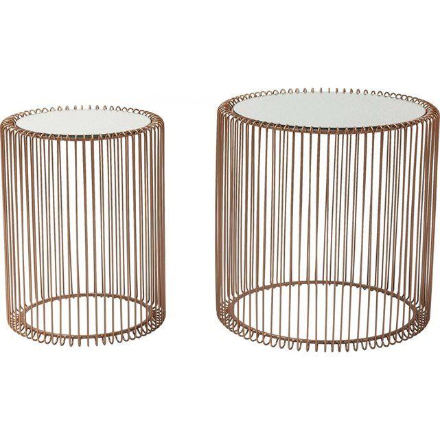 Tables d appoint Wire cuivre 2/set Kare Design KARE DESIGN