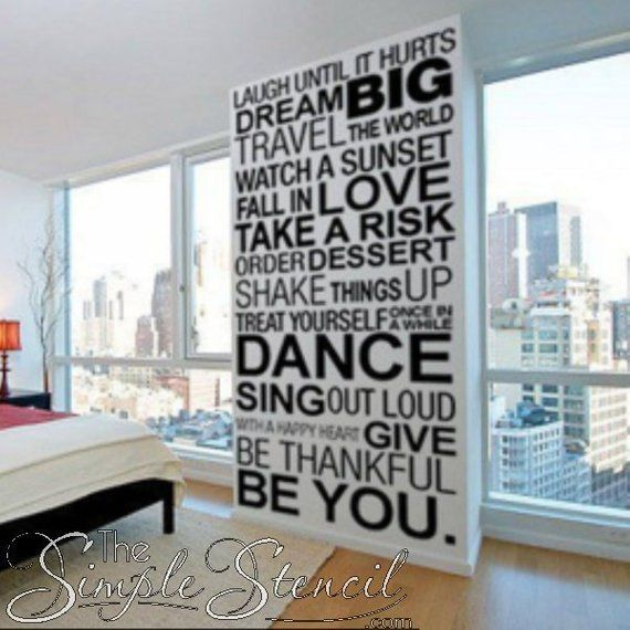 Inspirational Wall Phrases Large Wall Decal Vinyl Wall Art Decal Inspirational Quote Motiva Nastennye Nadpisi Ukrashenie Sten Svoimi Rukami Ukrashenie Sten